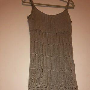 Knit dress in a light shimmer gray